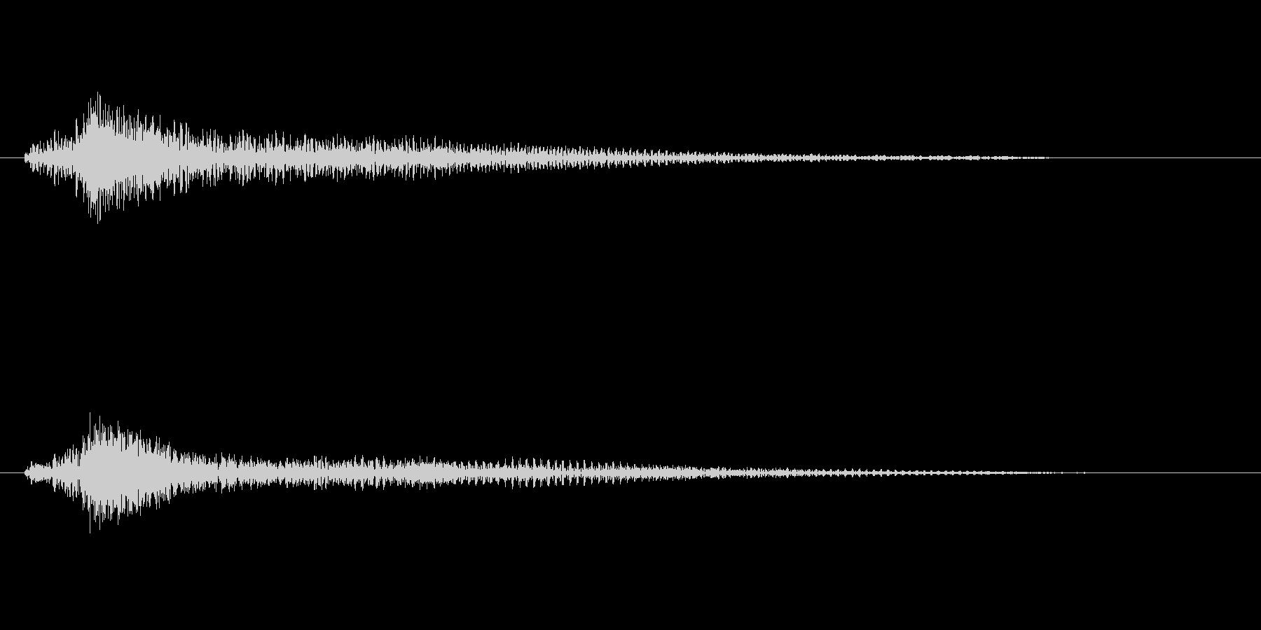 ファンタジー かわいい効果音 決定系05の未再生の波形