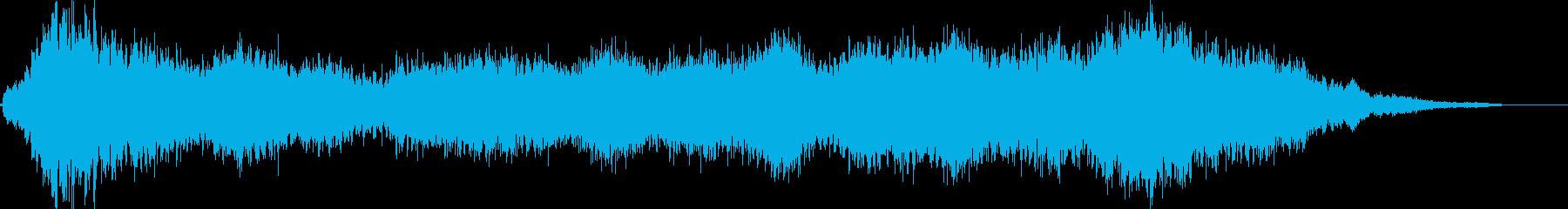 【ホラー】ヨドみを感じさせるBGMの再生済みの波形