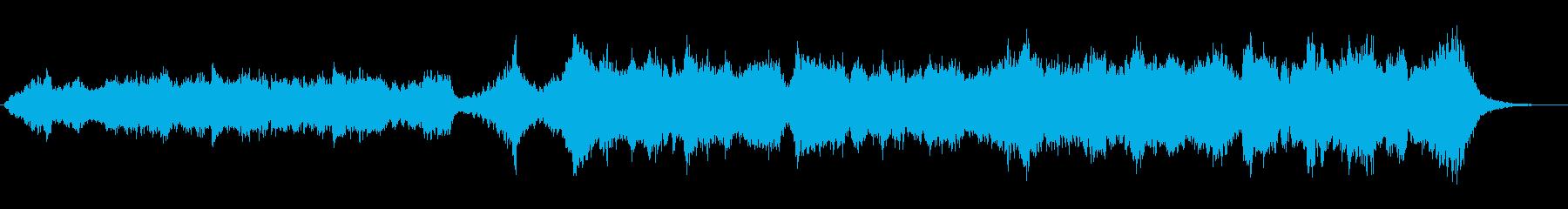 ドキュメンタリー番組風の温かみのある楽曲の再生済みの波形