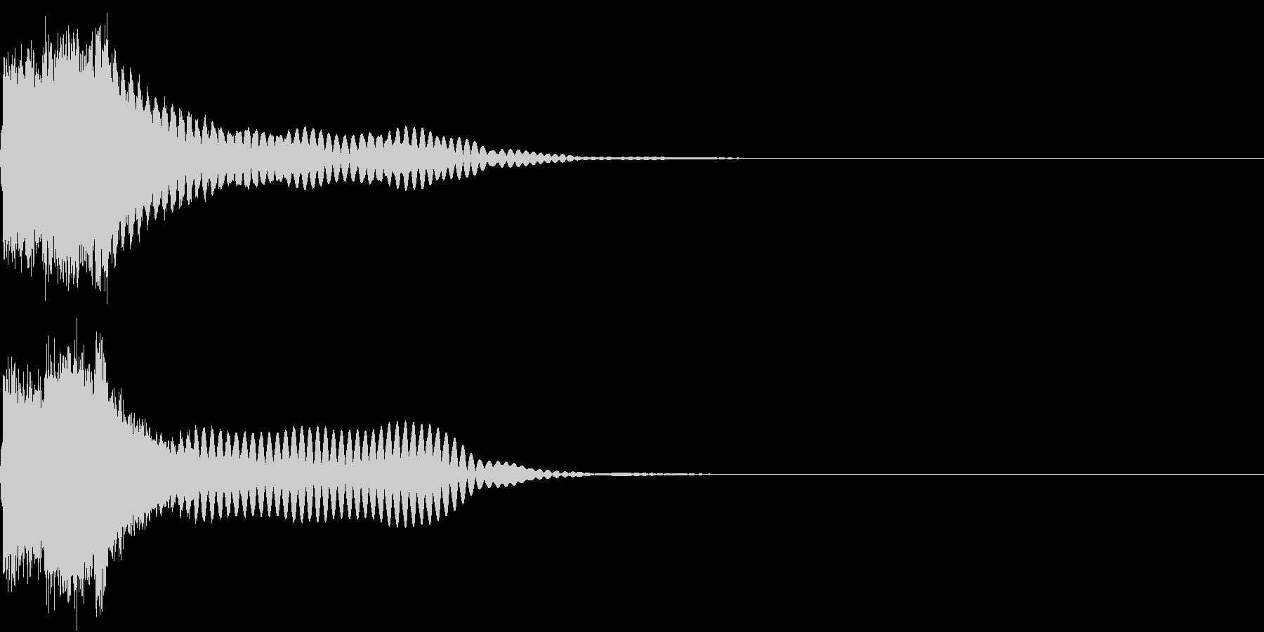刀 キーン 剣 リアル インパクト Kの未再生の波形
