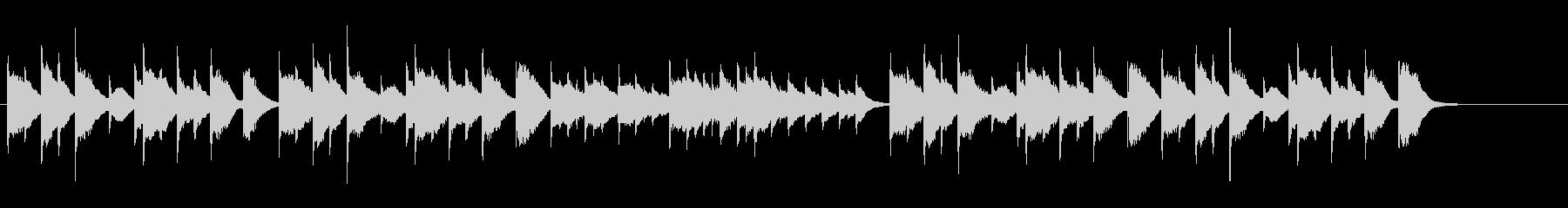琴、和楽器による落ち着いた曲。正月、和食の未再生の波形