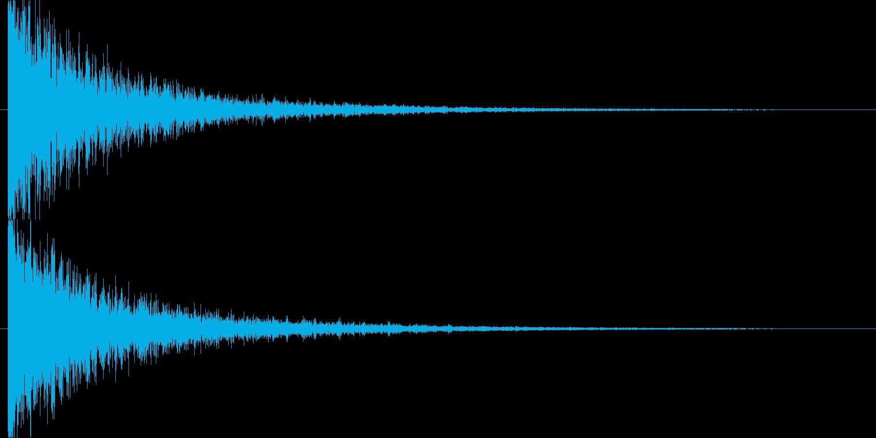 アタック音後に闇のようなアンビエント演出の再生済みの波形