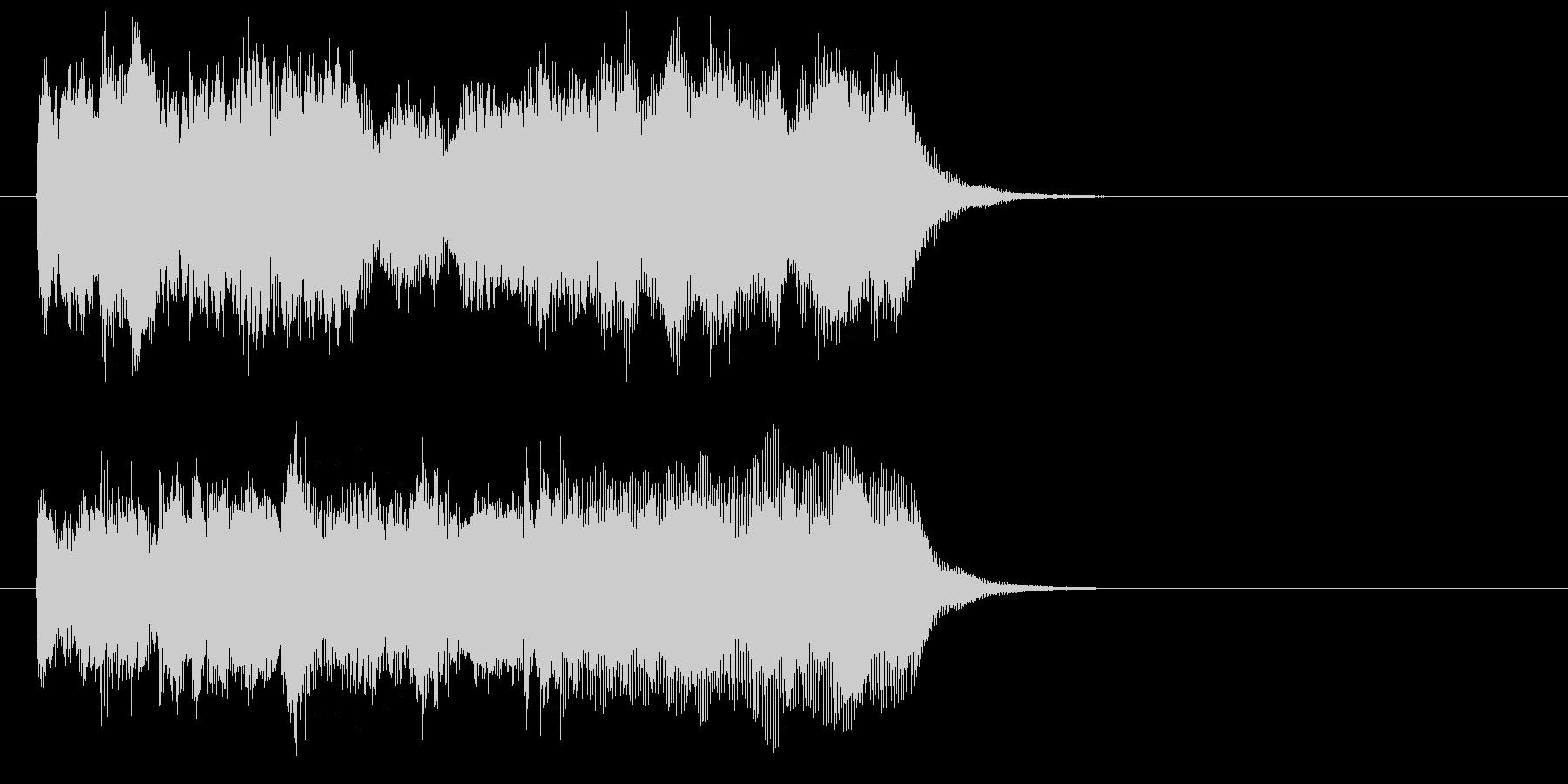 シンセの和音とハープが美しい曲の未再生の波形