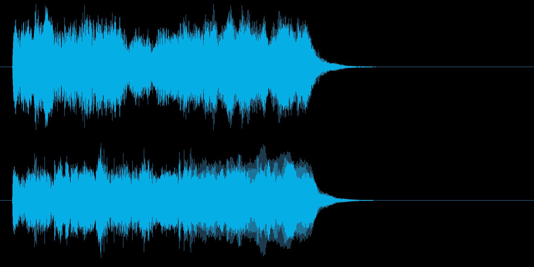 シンセの和音とハープが美しい曲の再生済みの波形