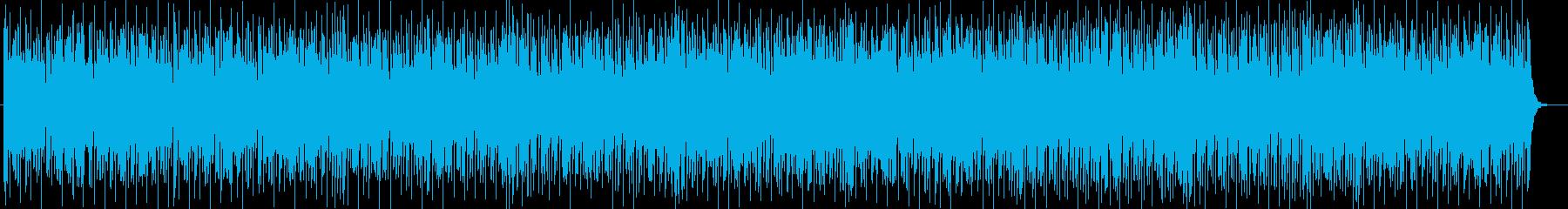リズミカルなスローテンポのテクノポップの再生済みの波形