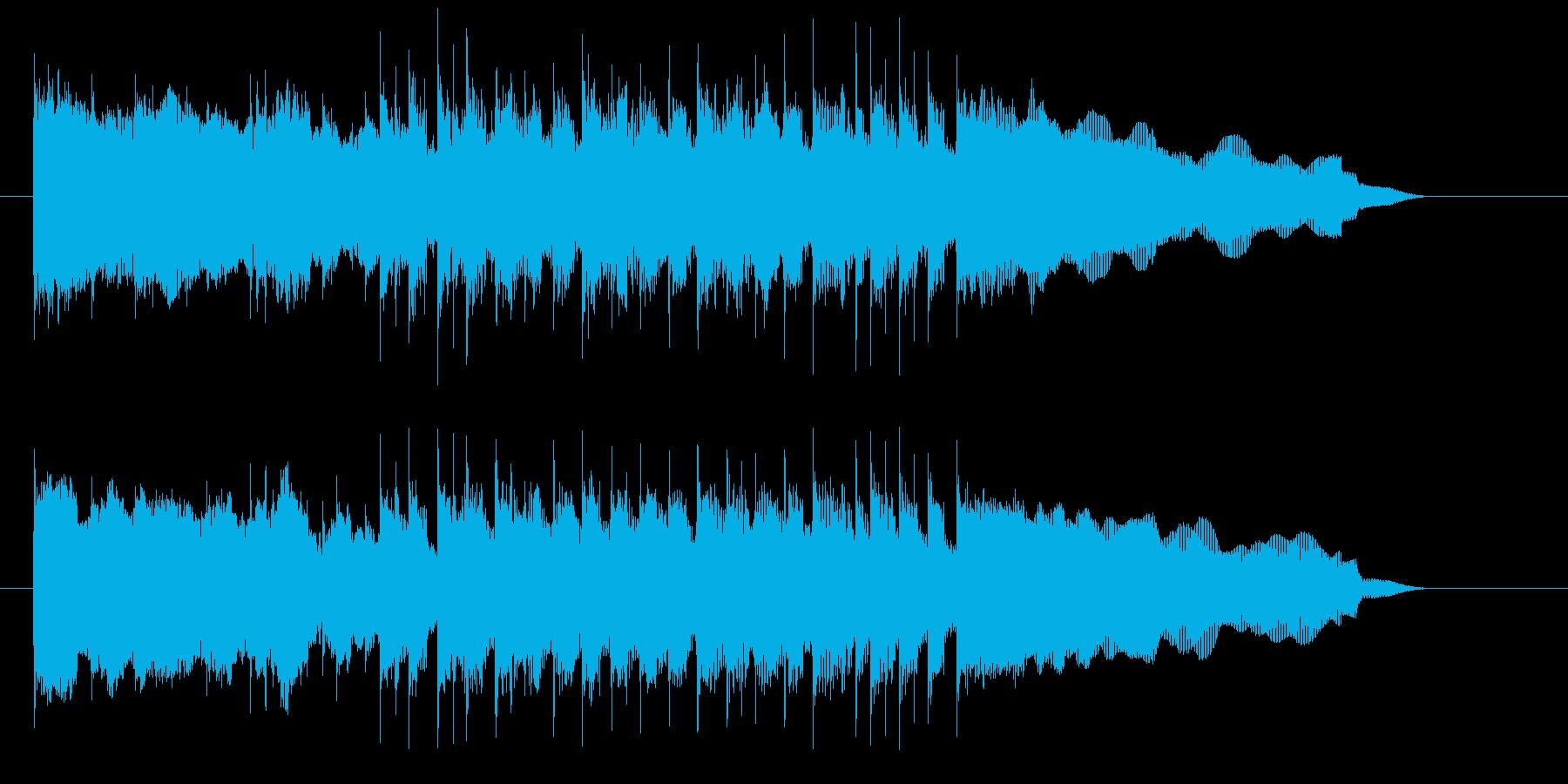 爽やかで躍動感あるエレキジングルの再生済みの波形
