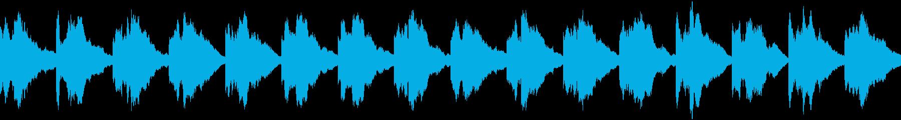 緊急事態の警報音 ピポン ループの再生済みの波形