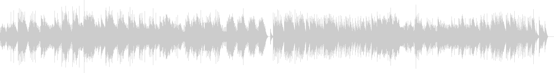 ドビュッシー 「夢」 (オルゴール)の未再生の波形