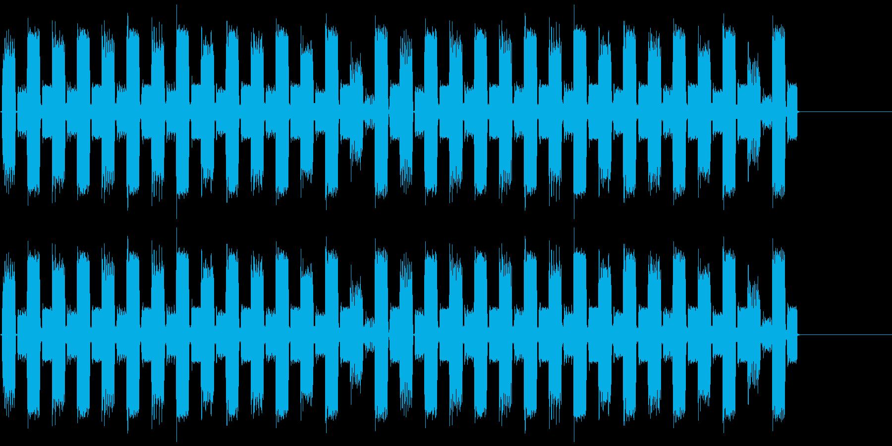 ループ用音源の再生済みの波形