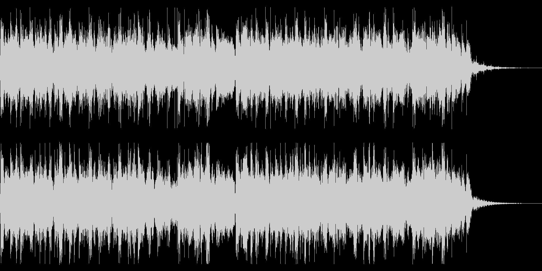 淡々とした工場での旋律の未再生の波形