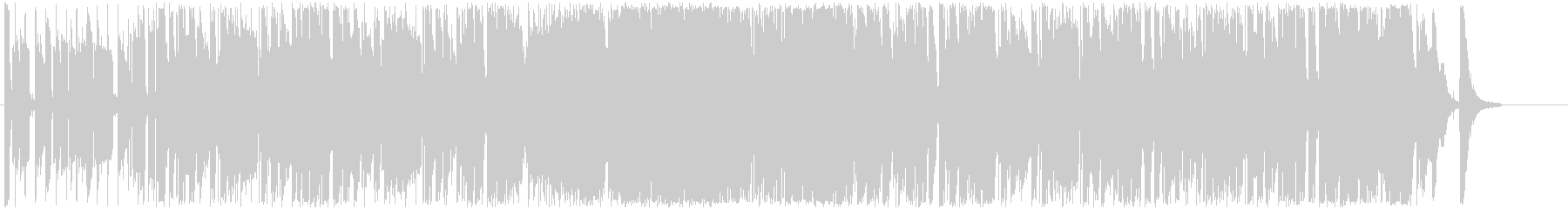 躍動感のあるエネルギッシュなBGMの未再生の波形