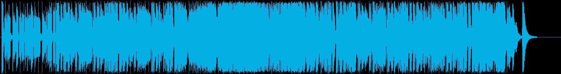 躍動感のあるエネルギッシュなBGMの再生済みの波形