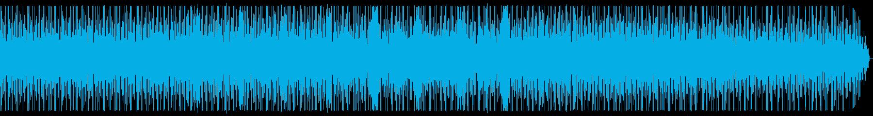 少しコミカルなテクノの再生済みの波形