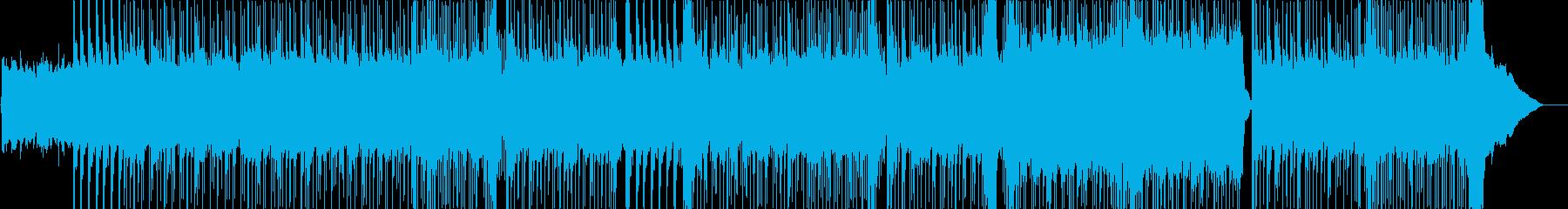 ロックの背景。の再生済みの波形