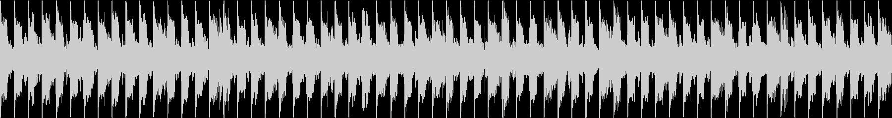 ダークなシンセサイザーのループの未再生の波形