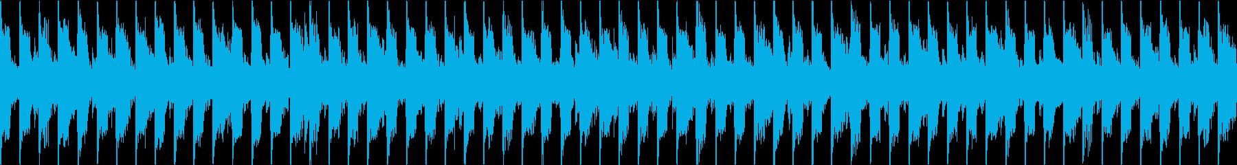 ダークなシンセサイザーのループの再生済みの波形
