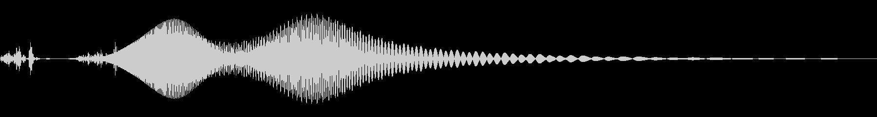 レーザーガンの未再生の波形
