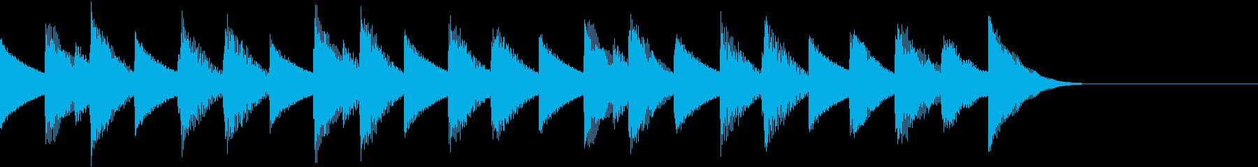 ほのぼのかわいいワルツ調のジングルの再生済みの波形