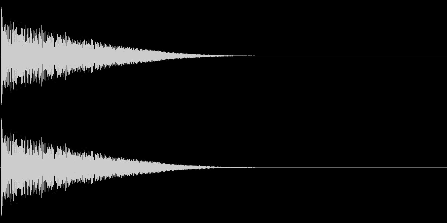 【生録音】ステンレス・スプーンの音 5の未再生の波形