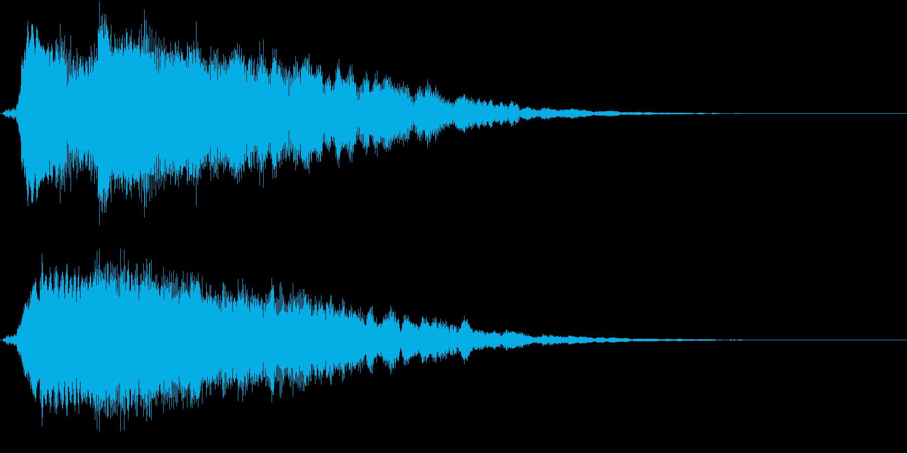 キラリン①(明るい・テロップ表示・決定)の再生済みの波形