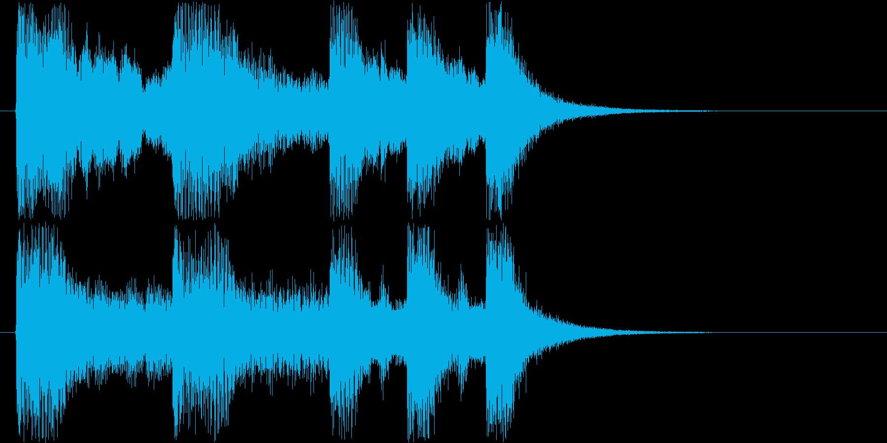 コミカルなジングル音の再生済みの波形