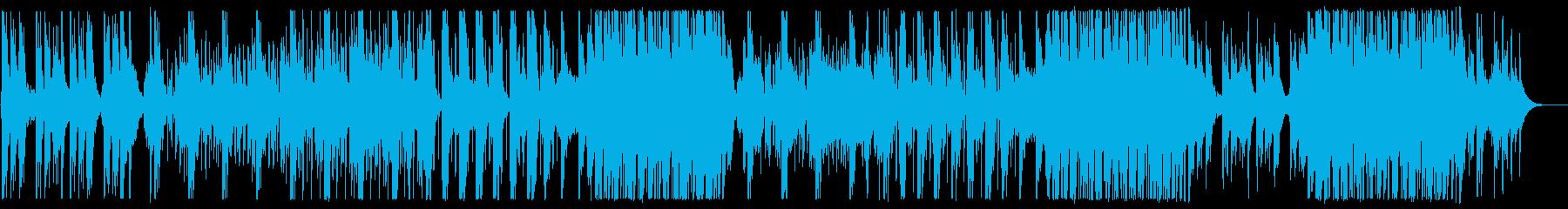 かわいらしく軽快なポップスの再生済みの波形