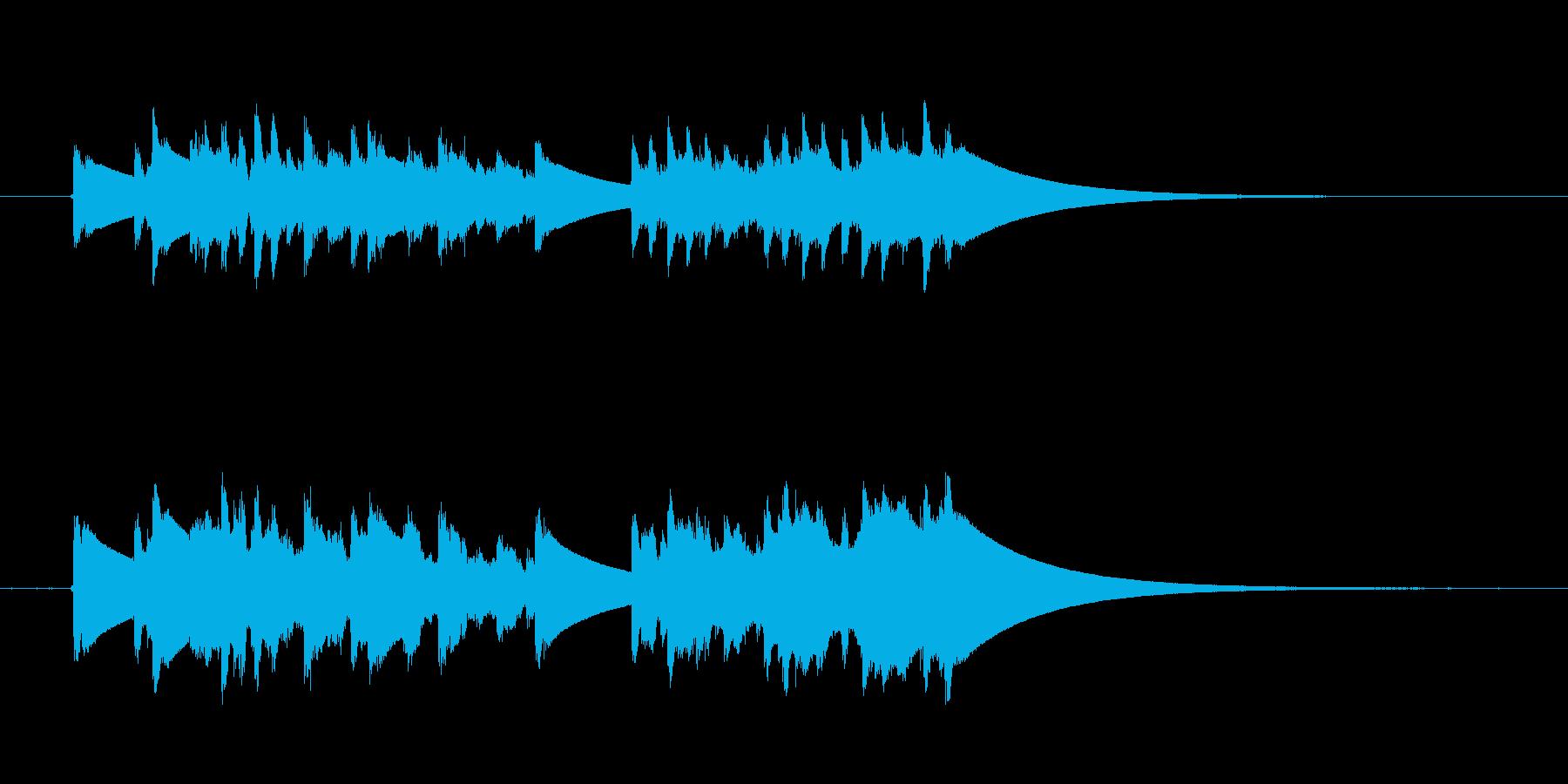 クイック繰り返しディンドン型ドアベ...の再生済みの波形