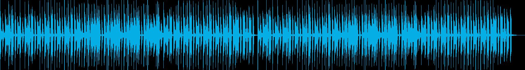 ピコピコ感が可愛くて楽しいBGMの再生済みの波形