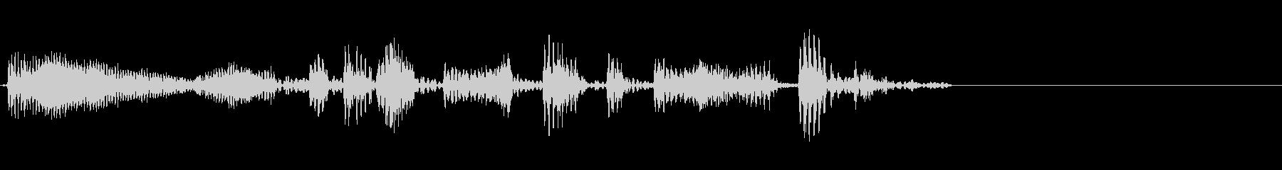 エレクトリックベース:クイックラン...の未再生の波形