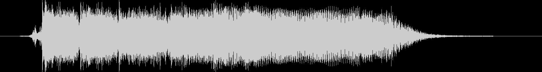 シンプルでロックなエレキギタージングル1の未再生の波形