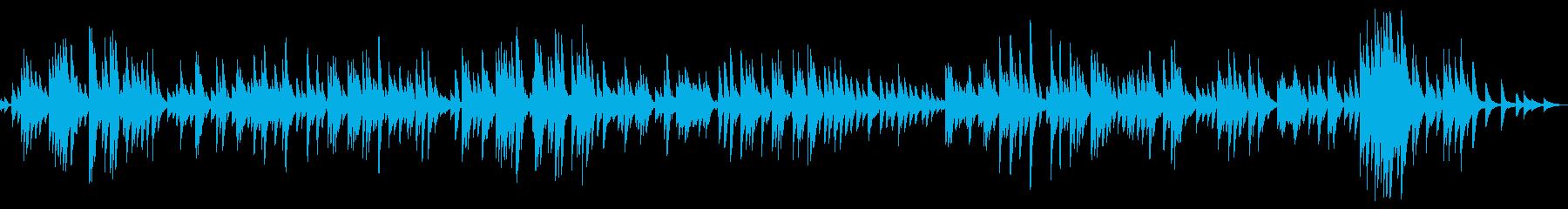 スローテンポで穏やかな癒し系のピアノ曲の再生済みの波形