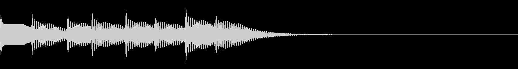 ピンポーン×4(大正解)の未再生の波形