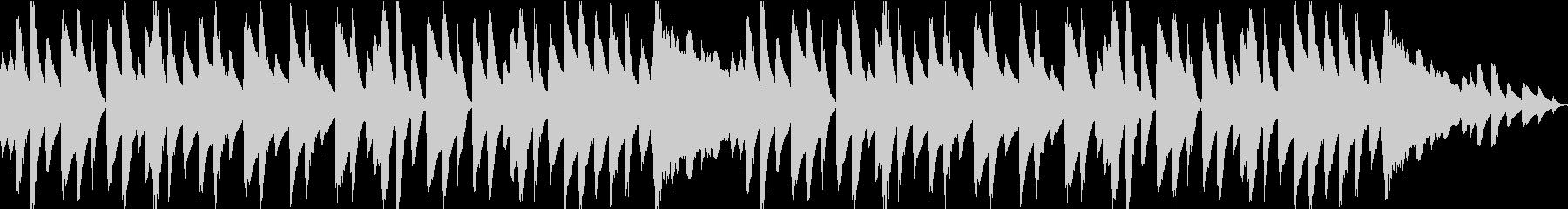 シンプルなピアノのワルツの未再生の波形