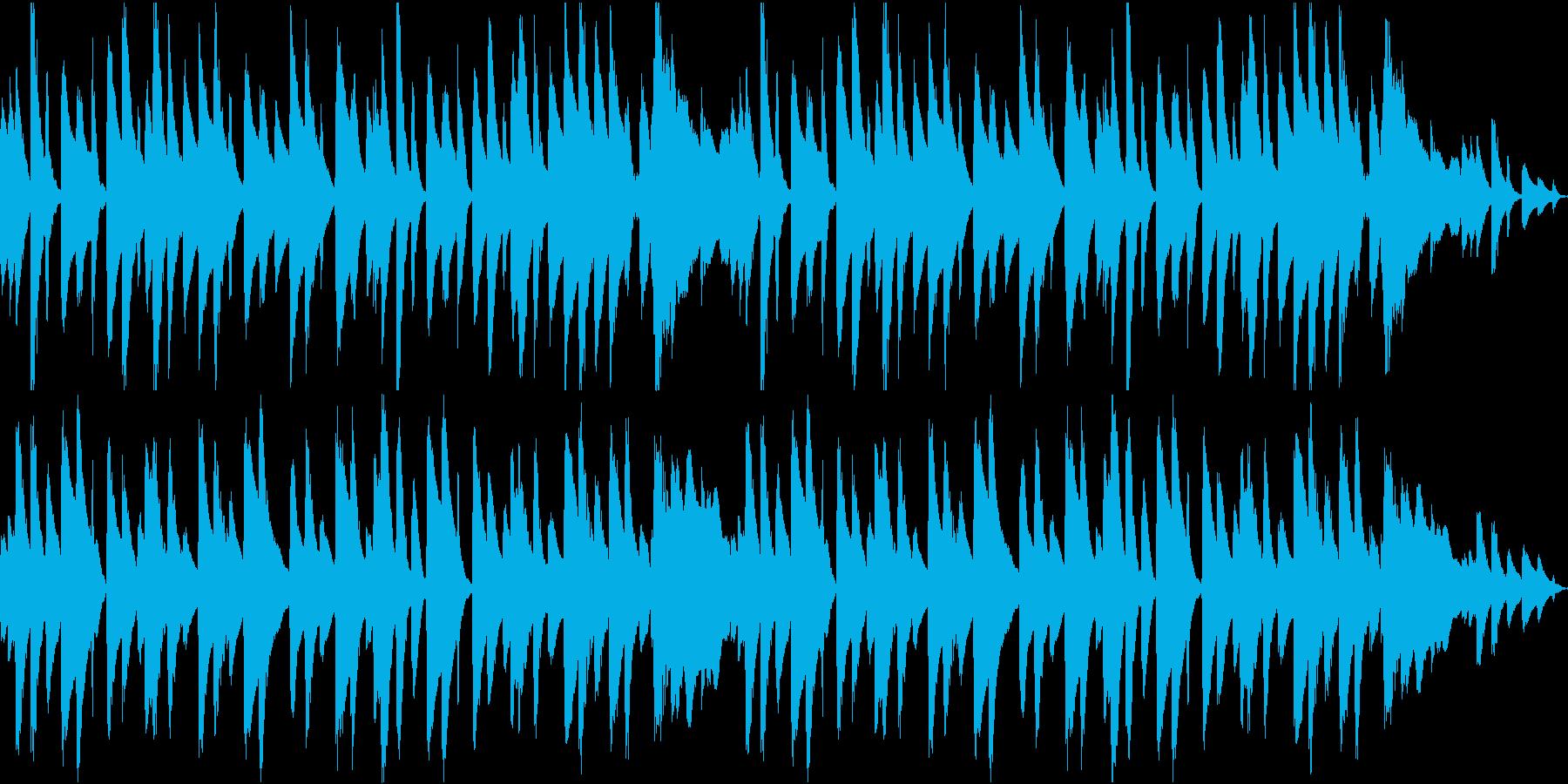 シンプルなピアノのワルツの再生済みの波形