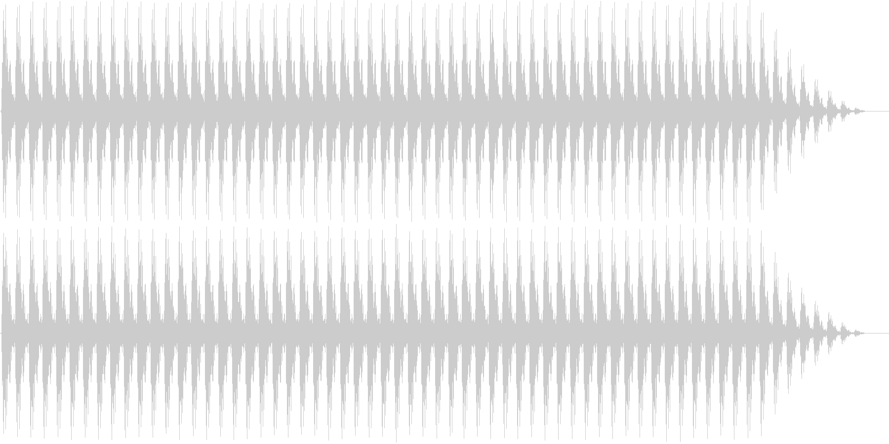 クリスマスの鈴(低め、テンポ速い)の未再生の波形