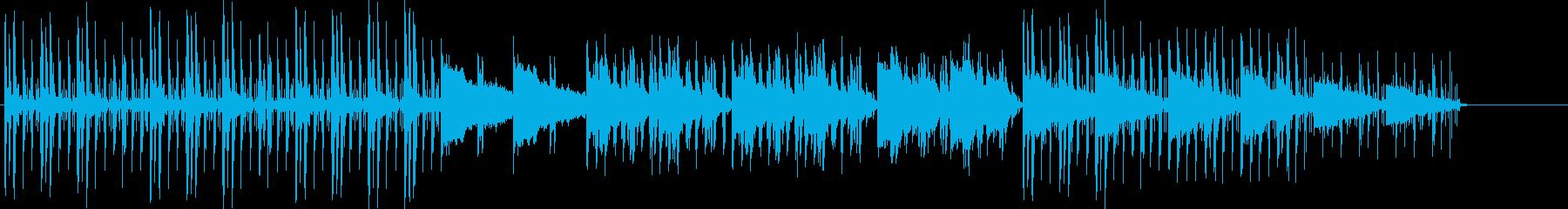 日常、ほのぼの、ピアノの再生済みの波形
