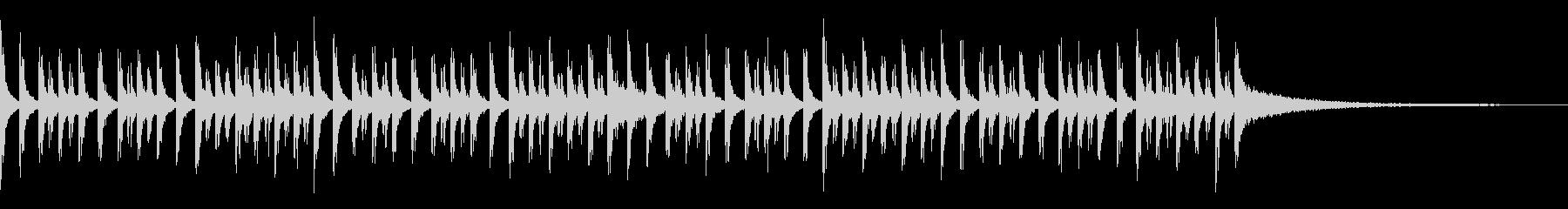 ブラスバンドスネアのジングルの未再生の波形