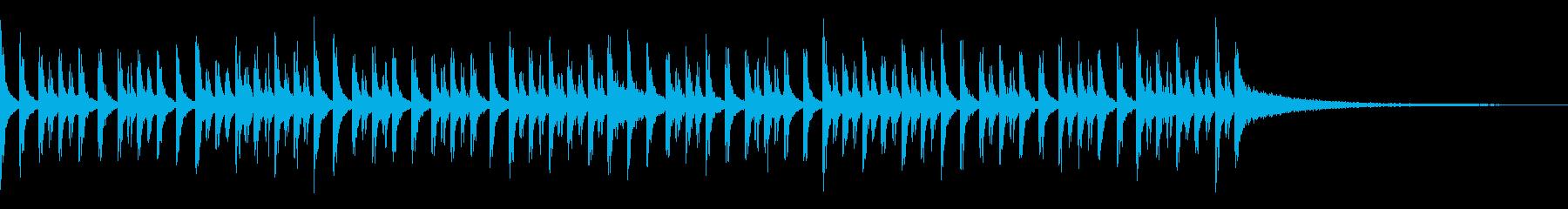 ブラスバンドスネアのジングルの再生済みの波形