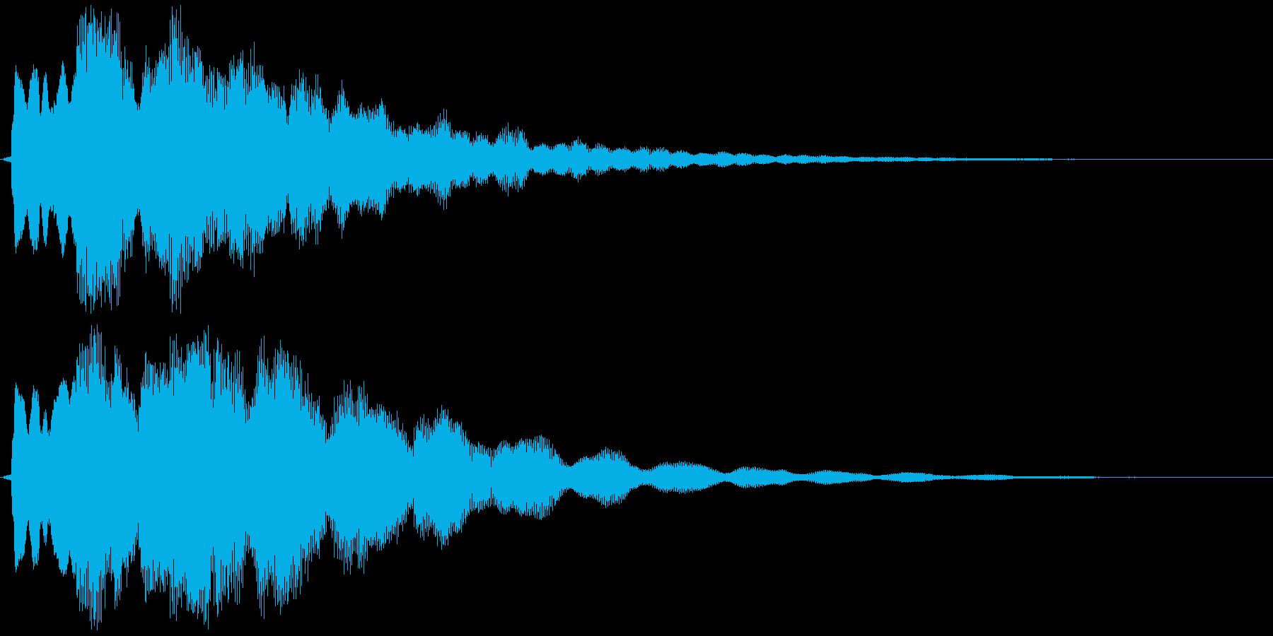 ティントンタンー(ベル)の再生済みの波形