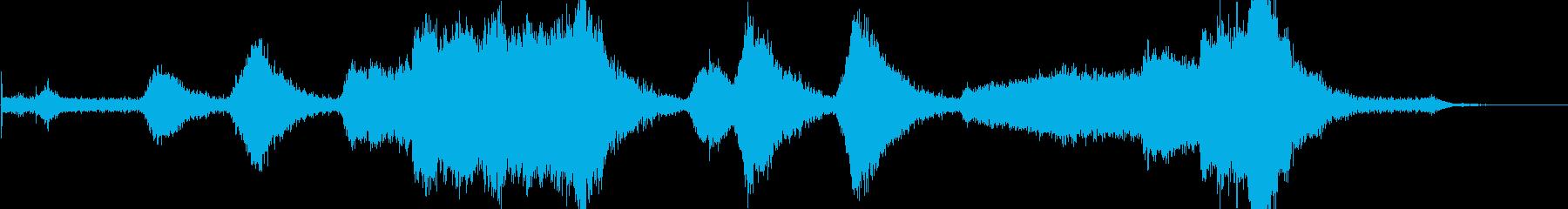 スカウトトラック:開始、回転、オフ。の再生済みの波形