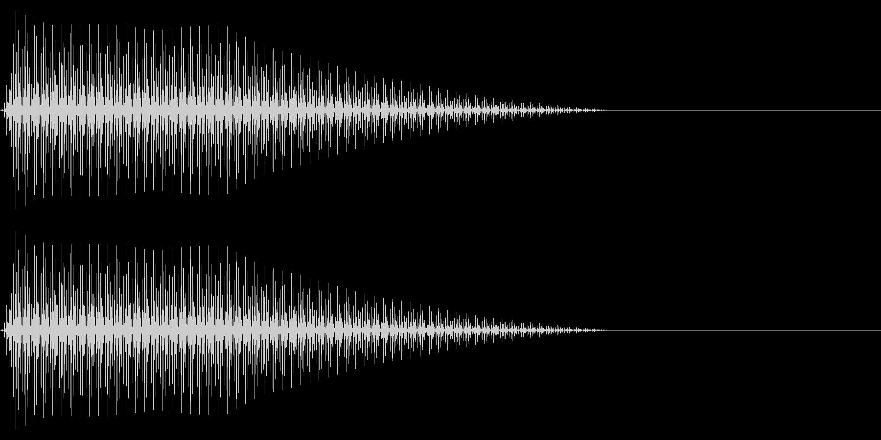 OctaveCom アプリ用タッチ音3の未再生の波形