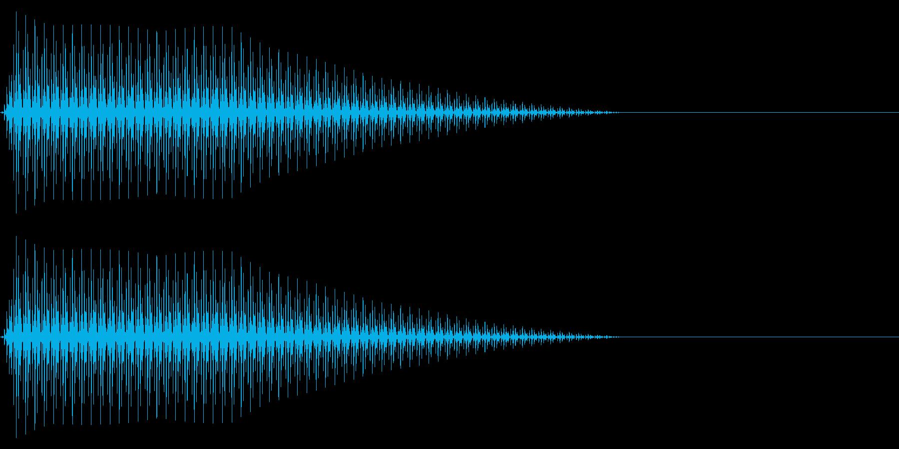 OctaveCom アプリ用タッチ音3の再生済みの波形