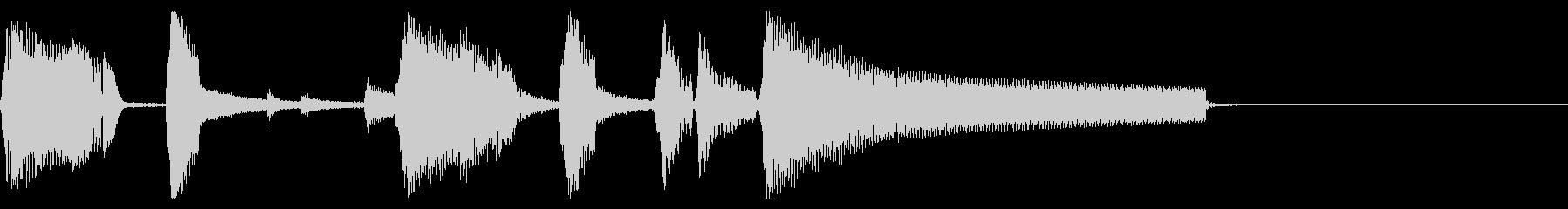 おしゃれなジャズ ピアノ ジングル 03の未再生の波形