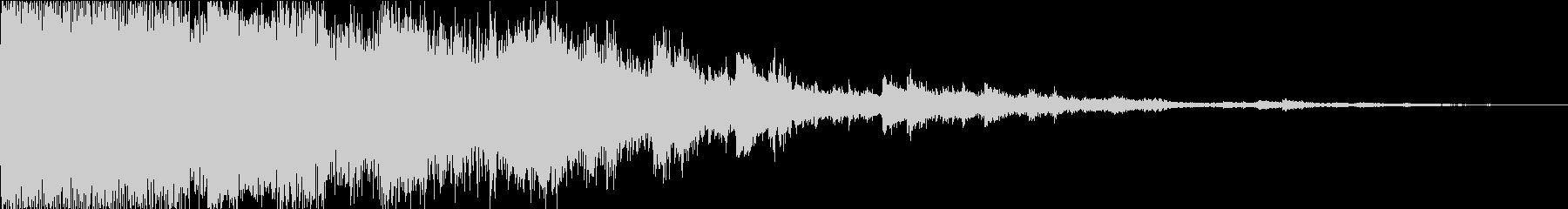 パリーン_耳に優しいガラスが飛び散る音の未再生の波形