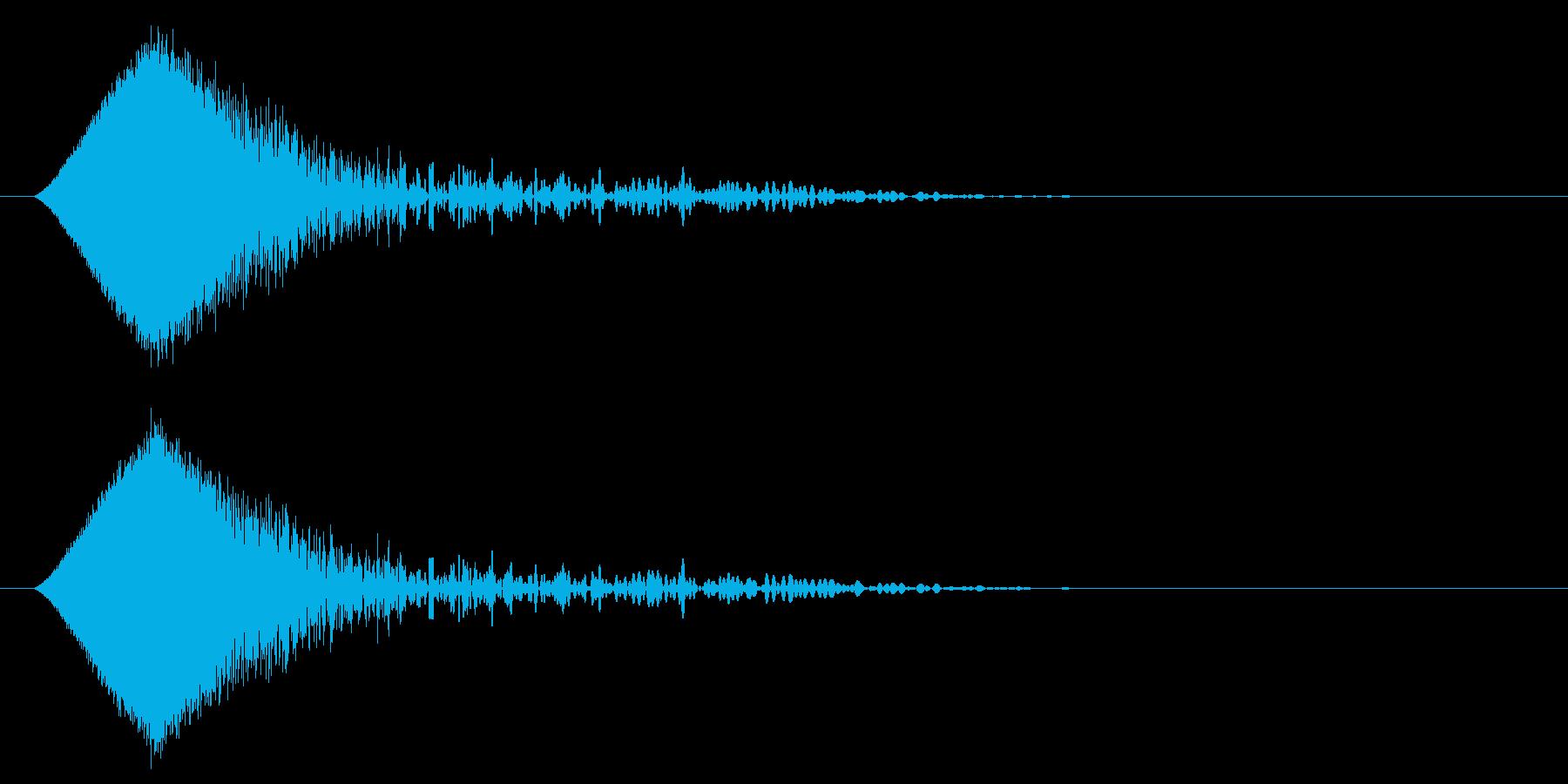 カットイン/場面転換/アニメ/映像の再生済みの波形