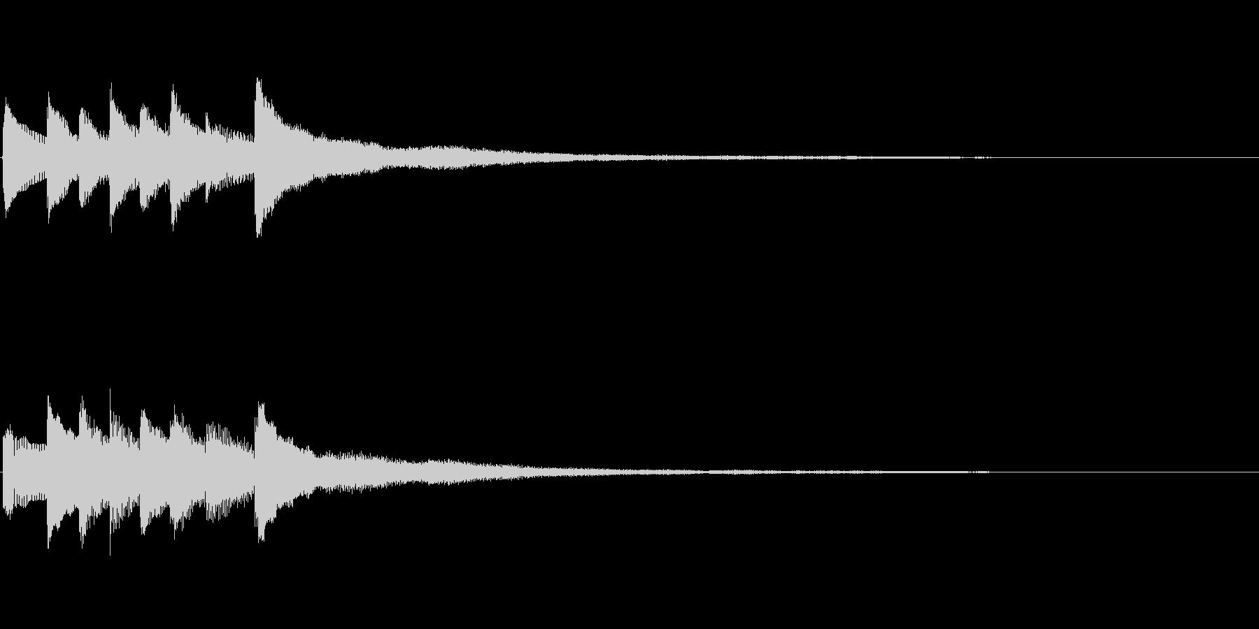 ピアノソロサウンドロゴ 優雅 大人 04の未再生の波形