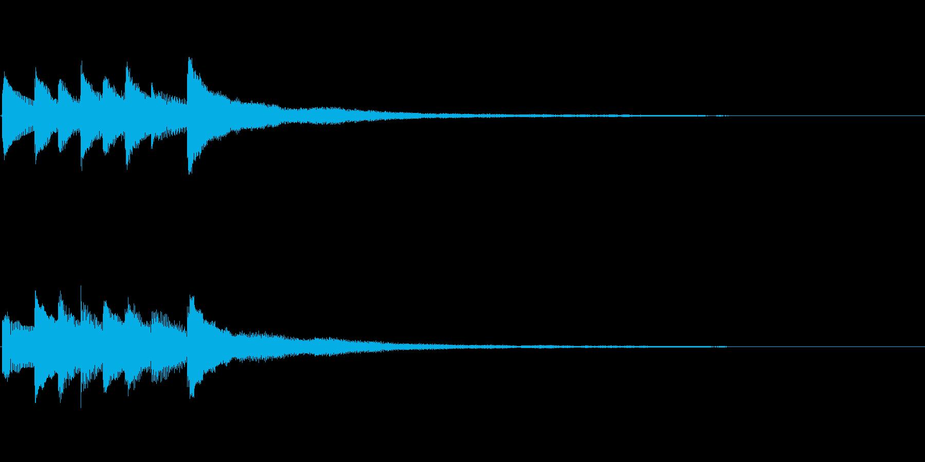 ピアノソロサウンドロゴ 優雅 大人 04の再生済みの波形