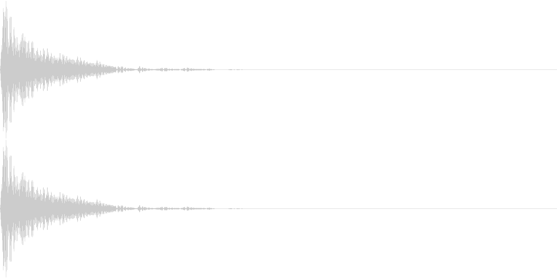 Cap フタ・栓を開ける音 13の未再生の波形