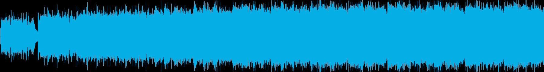 クワイア、ストリングスメインの感動BGMの再生済みの波形