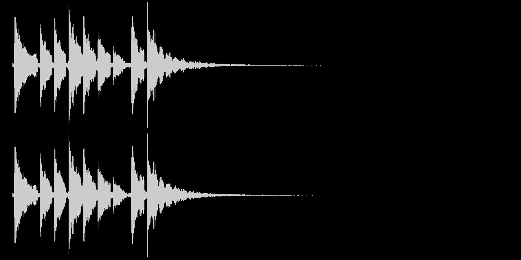和風効果音 三味線(鳴り物なし)の未再生の波形